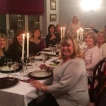 The Spires Girls around the table - Irene, Teresa, Janet, Debbie, Lynn, Carol, Donna (honorary Spires Girl who made the desserts) Sue, Joanne, Linda, Jill and me!  The Daughter was the photographer.