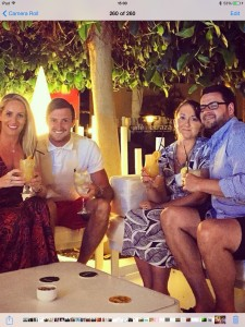 Michelle, Stu, Gemma and David with their cocktails