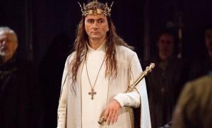 Long-haired David as Richard II