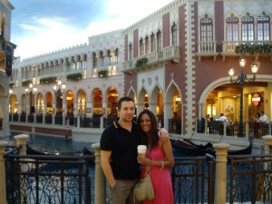 Kat with her husband in Las Vegas