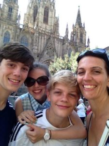 Shelley and her wonderful family in Barceona