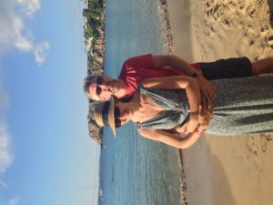 Louise and Tim in Menorca