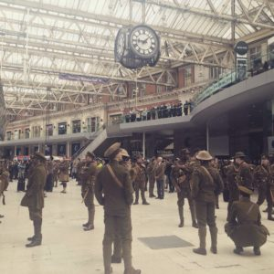 Touching, poignant scene taken at Waterloo Station 1st July 2016...by my daughter.