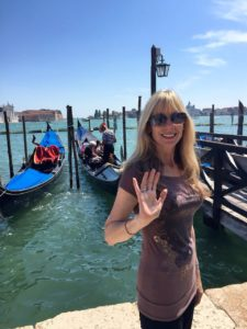 Theresa on holiday in Venice.