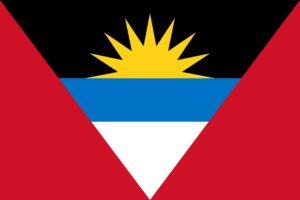 The beautiful, colourful flag of Antigua and Barbuda