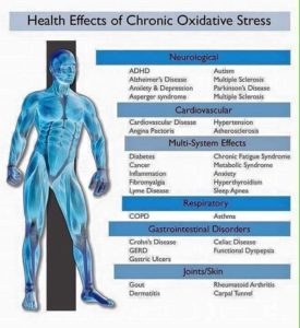 Just some of the conditions caused by oxidative stress.