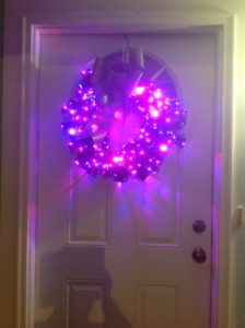 My multi-coloured flashing Christmas wreath
