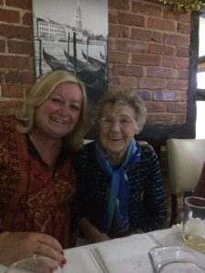 With Aunt Joan on her 90th birthday